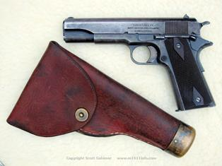 NAA s/n 77 with rare, unknown maker vintage holster from Canada with Mills parts