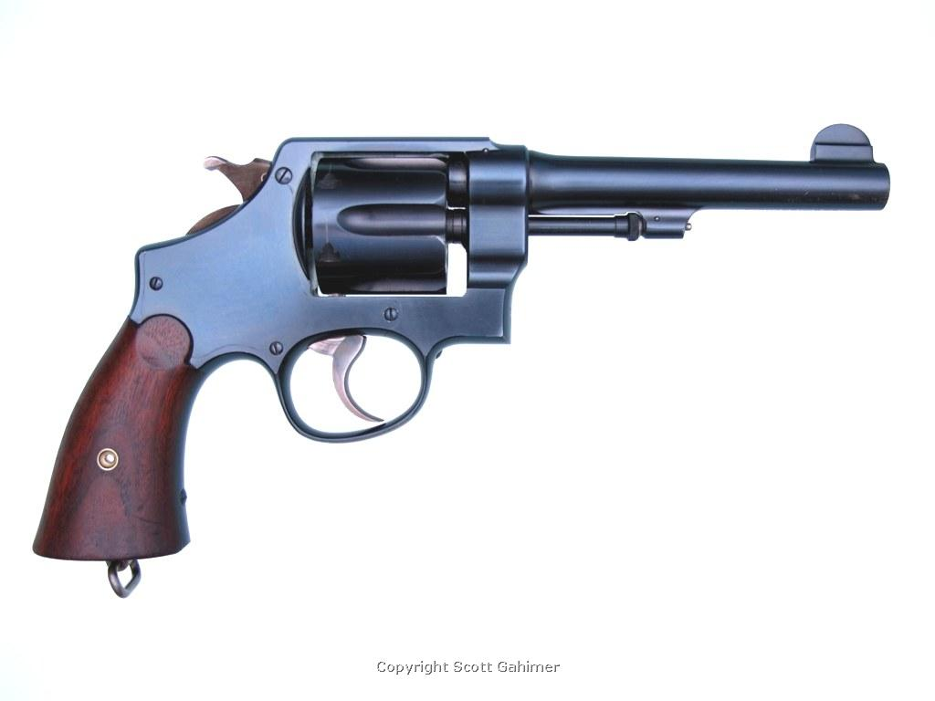 Early S&W M1917 revolver S/N 124.